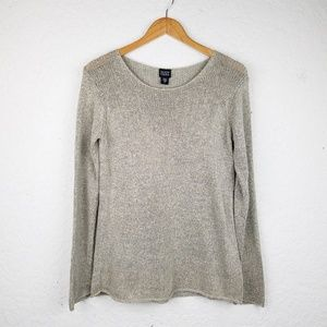 Eileen Fisher Women sweater S scoop neck cotton bl